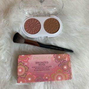 Pacifica blush & bronzer duo & luxie contour brush